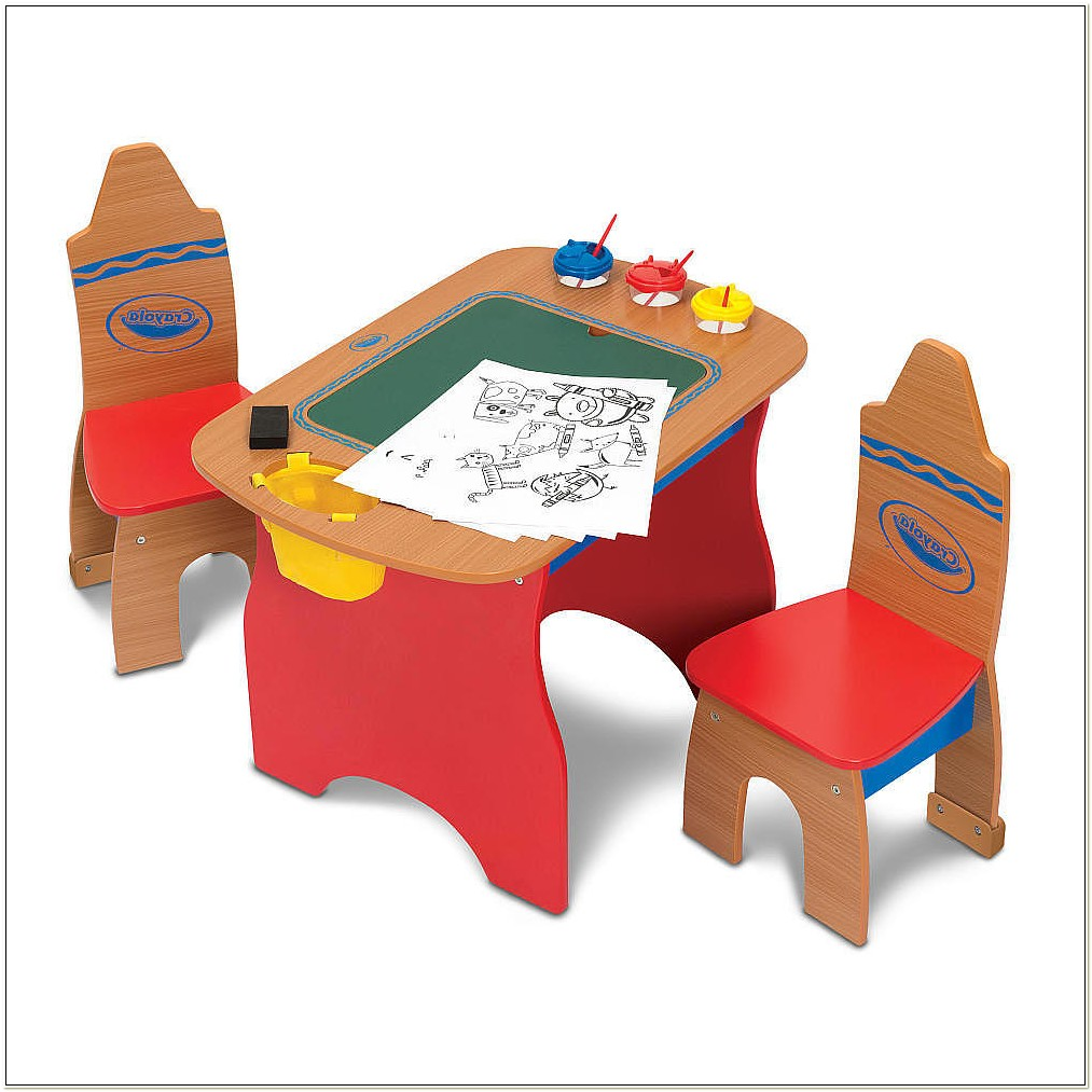 Crayola Wooden Table And Chair Set Uk