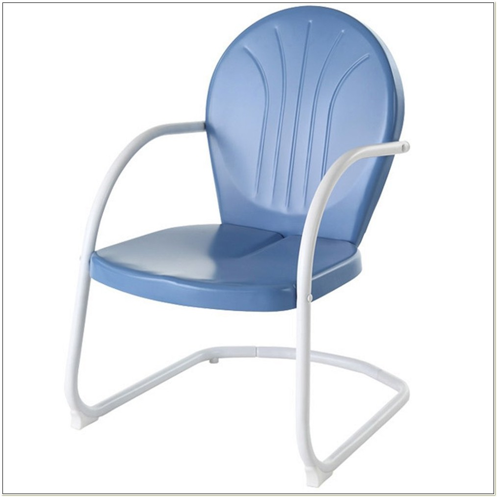 Crosley Furniture Griffith Metal Chair Sky Blue