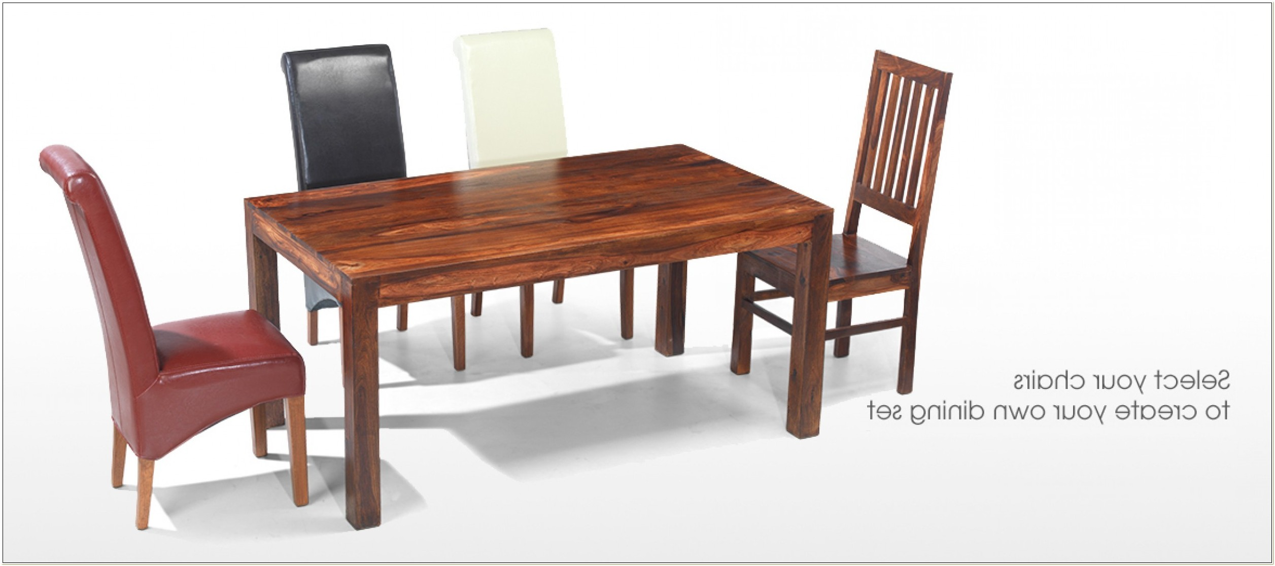 Cube Sheesham Dining Table And Chairs