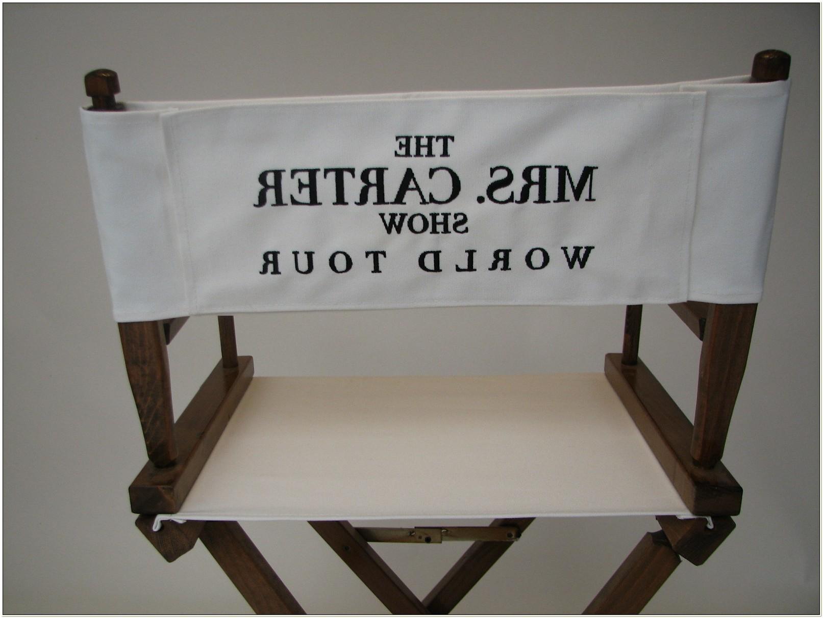 Custom Directors Chair Canvas