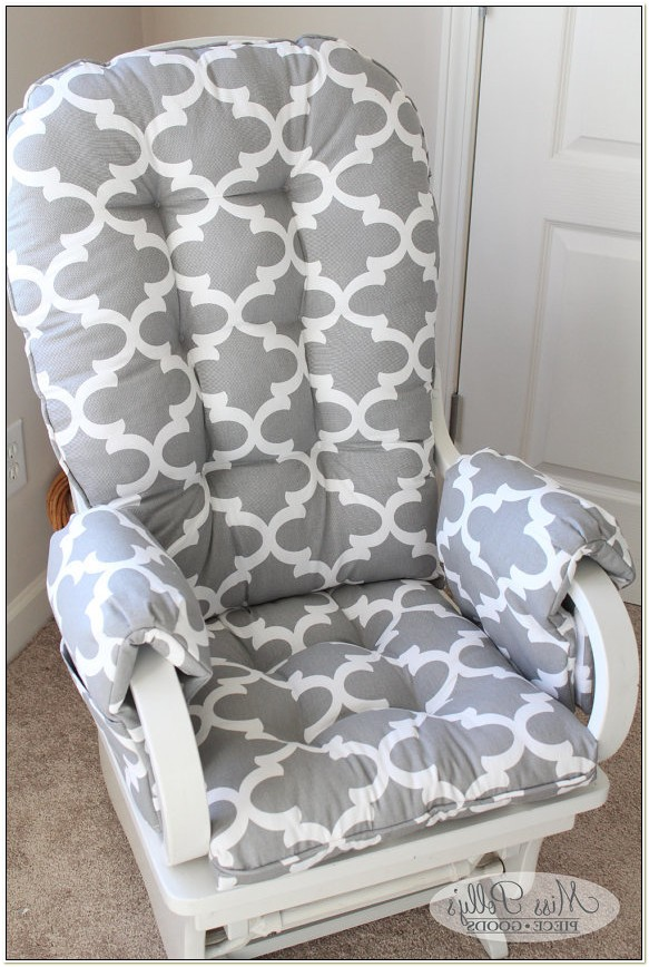 Custom Nursery Rocking Chair Cushions