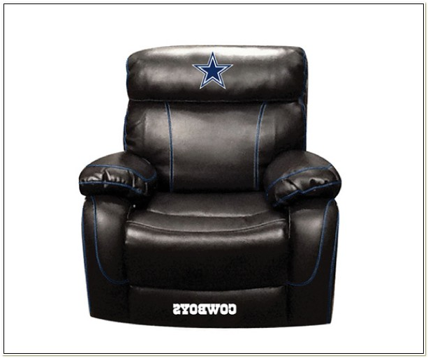 Dallas Cowboys Leather Recliner Chair