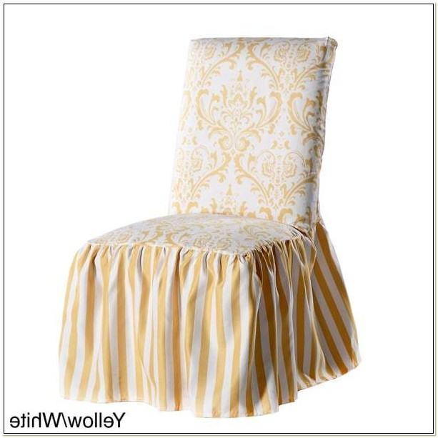 Damask Dining Chair Covers Set Of 2
