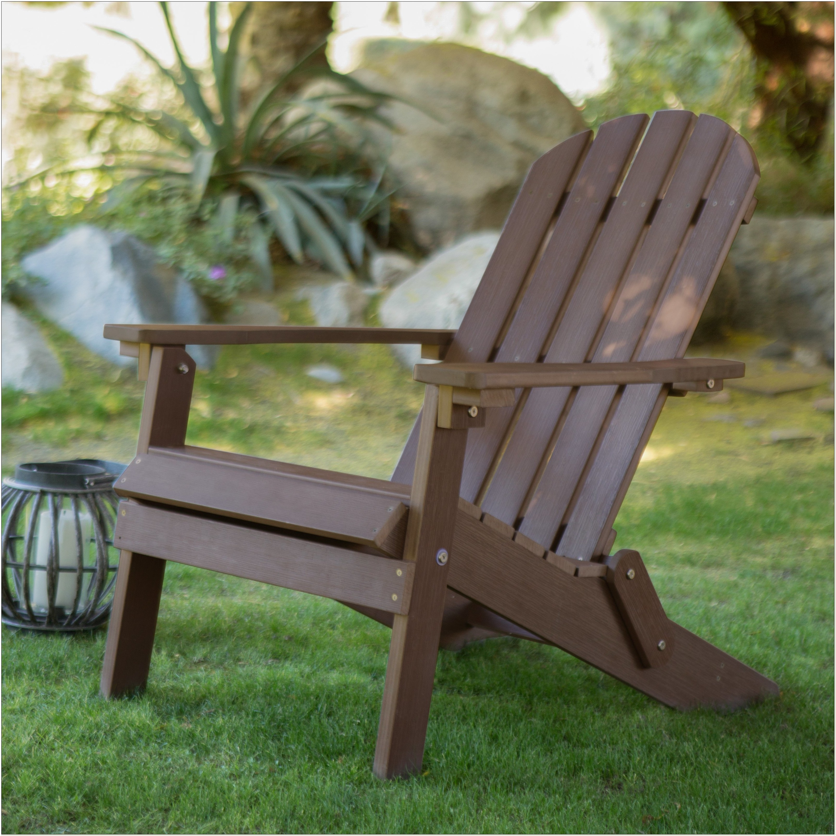 Dark Brown Resin Adirondack Chairs