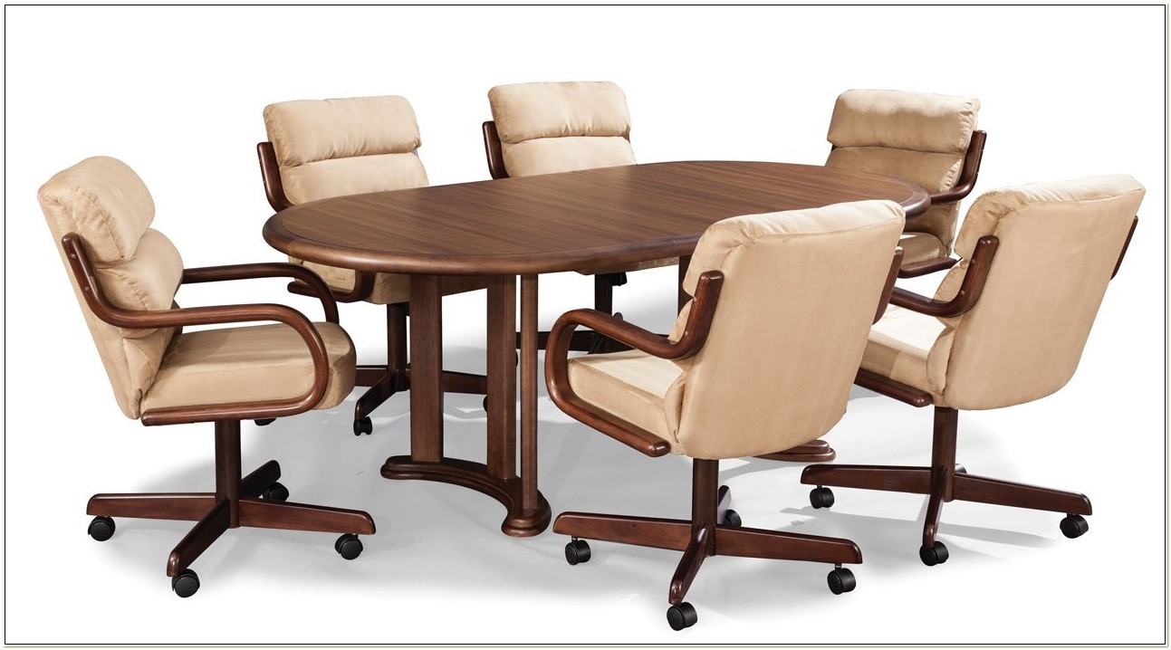 Dinette Chairs With Casters And Arms