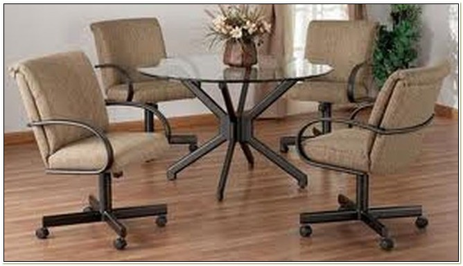 Dining Room Chairs With Casters And Arms