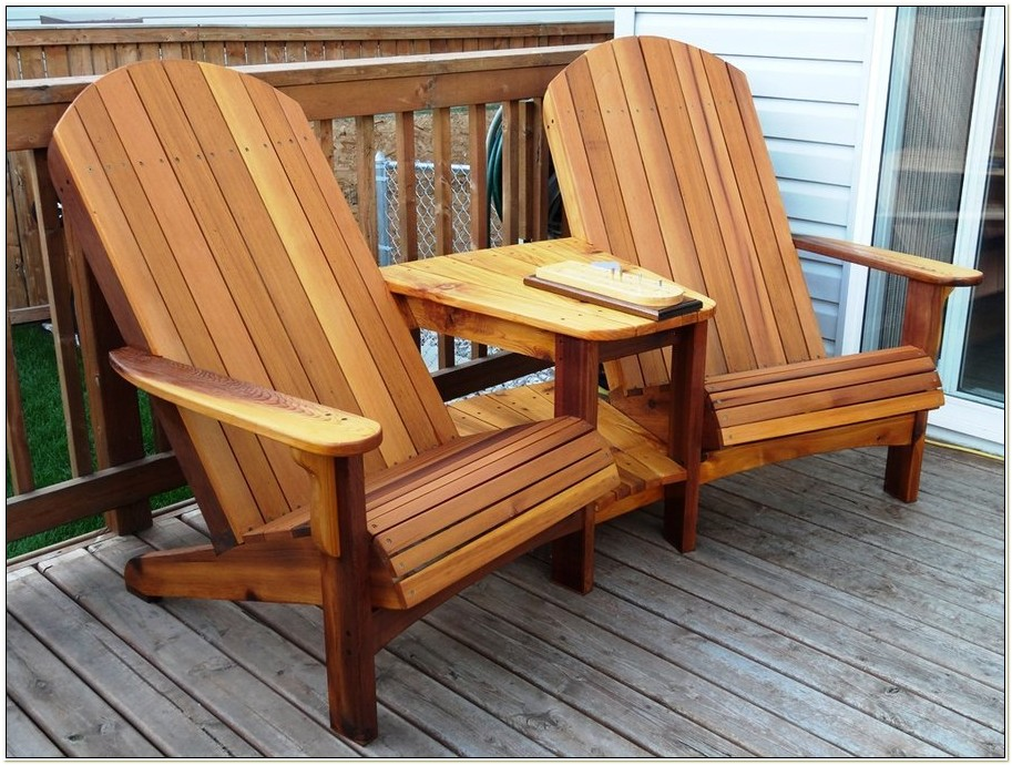 Double Adirondack Rocking Chair Plans