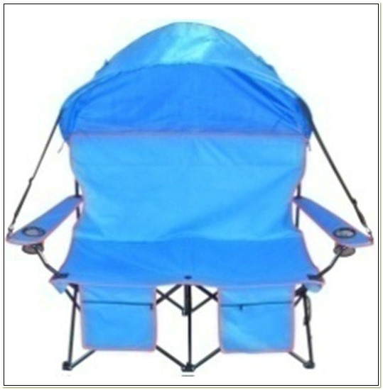 Double Camping Chair With Umbrella