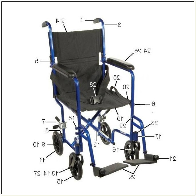 Drive Transport Chair Replacement Wheels