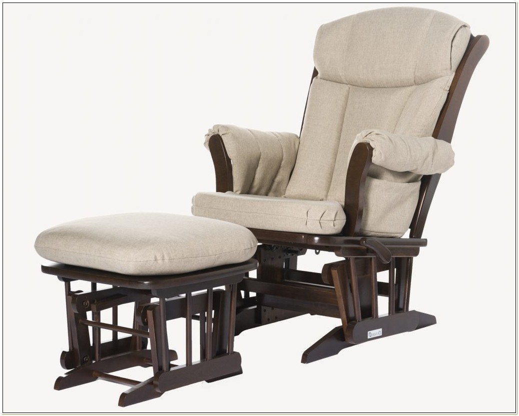 Dutailier Glider Rocking Chair With Ottoman