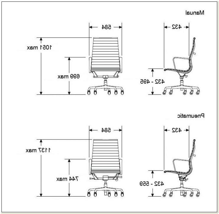 Eames Aluminum Executive Chair Dimensions