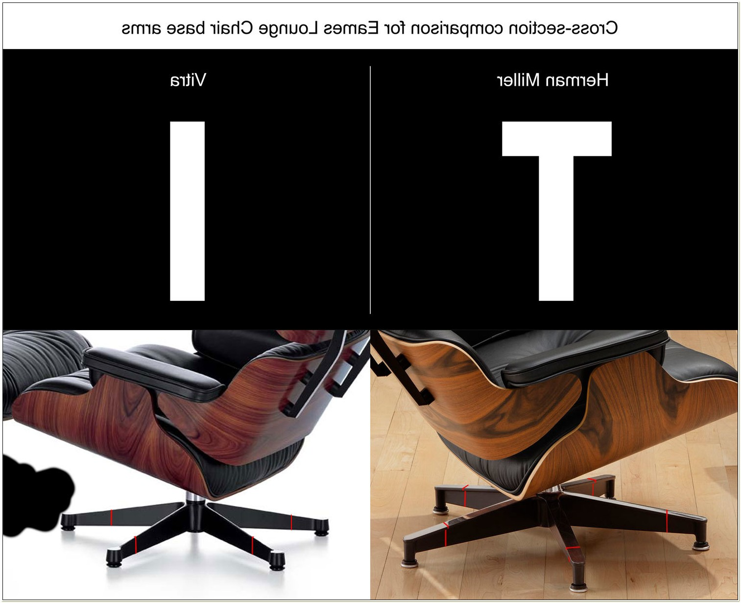 Eames Chair Herman Miller Vs Vitra