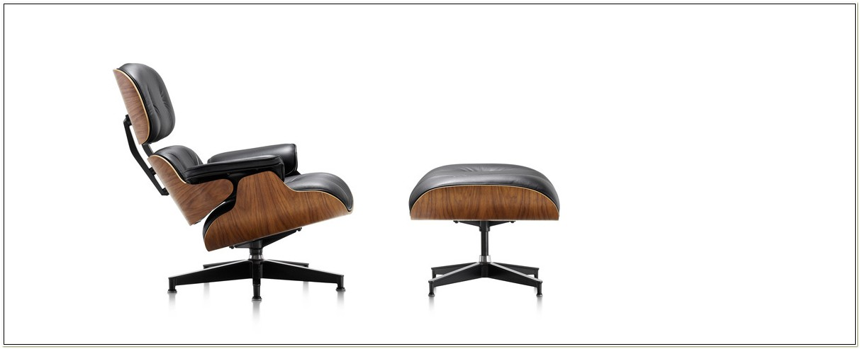 Eames Classic Lounge Chair With Matching Ottoman