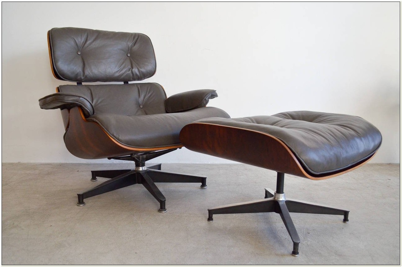 Eames Lounge Chair And Matching Ottoman