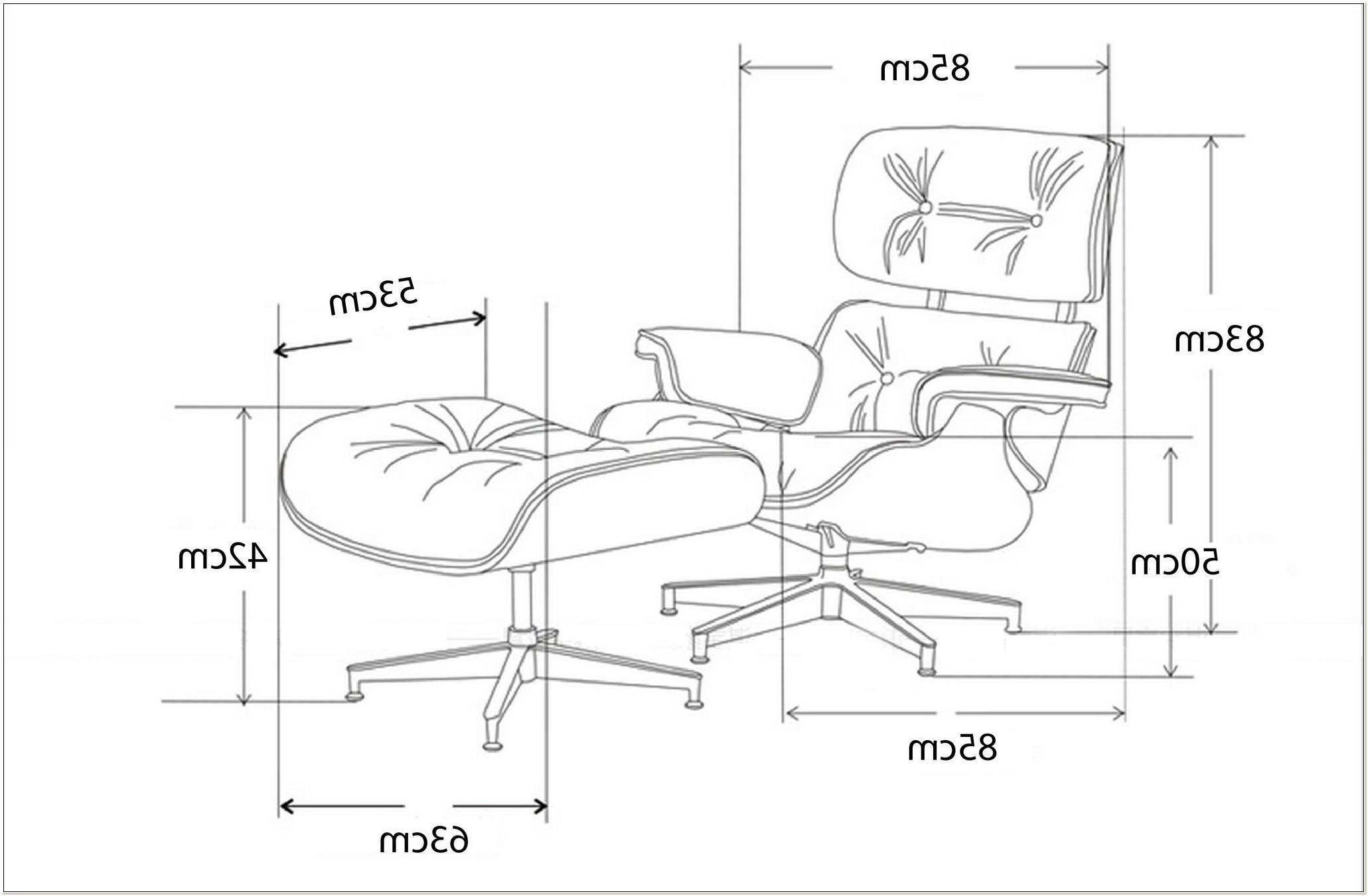 Eames Lounge Chair Ottoman Dimensions