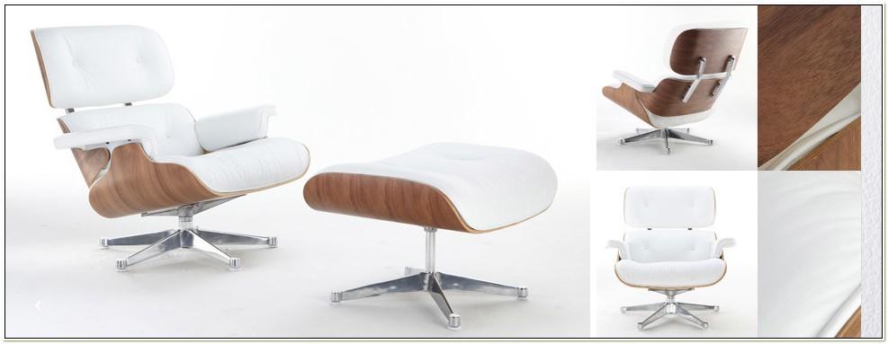 Eames Lounge Chair Replica White