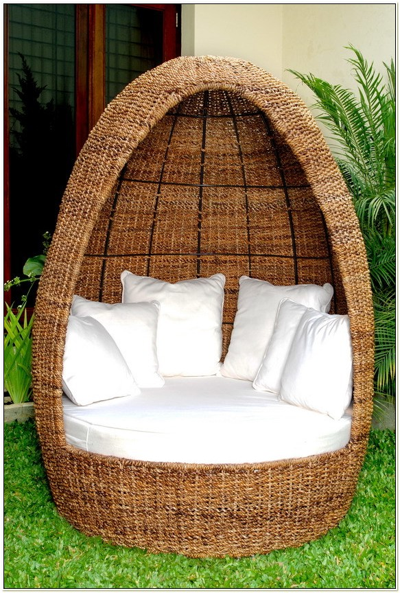 Egg Shaped Rattan Chairs