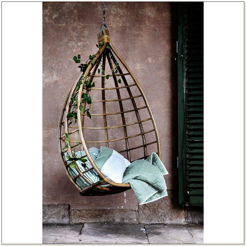 Egg Shaped Rattan Hanging Chair
