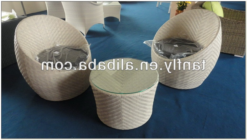 Egg Shaped Wicker Garden Furniture
