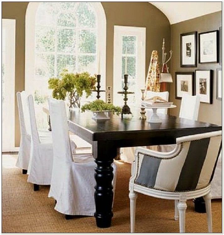 Elegant Dining Room Chair Slipcovers