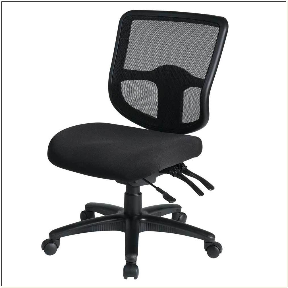 Ergonomic Task Chair Without Arms