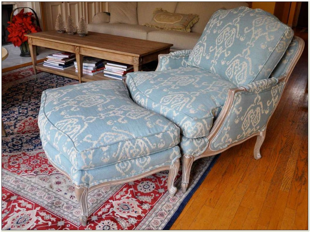 Ethan Allen Bergere Chair And Ottoman