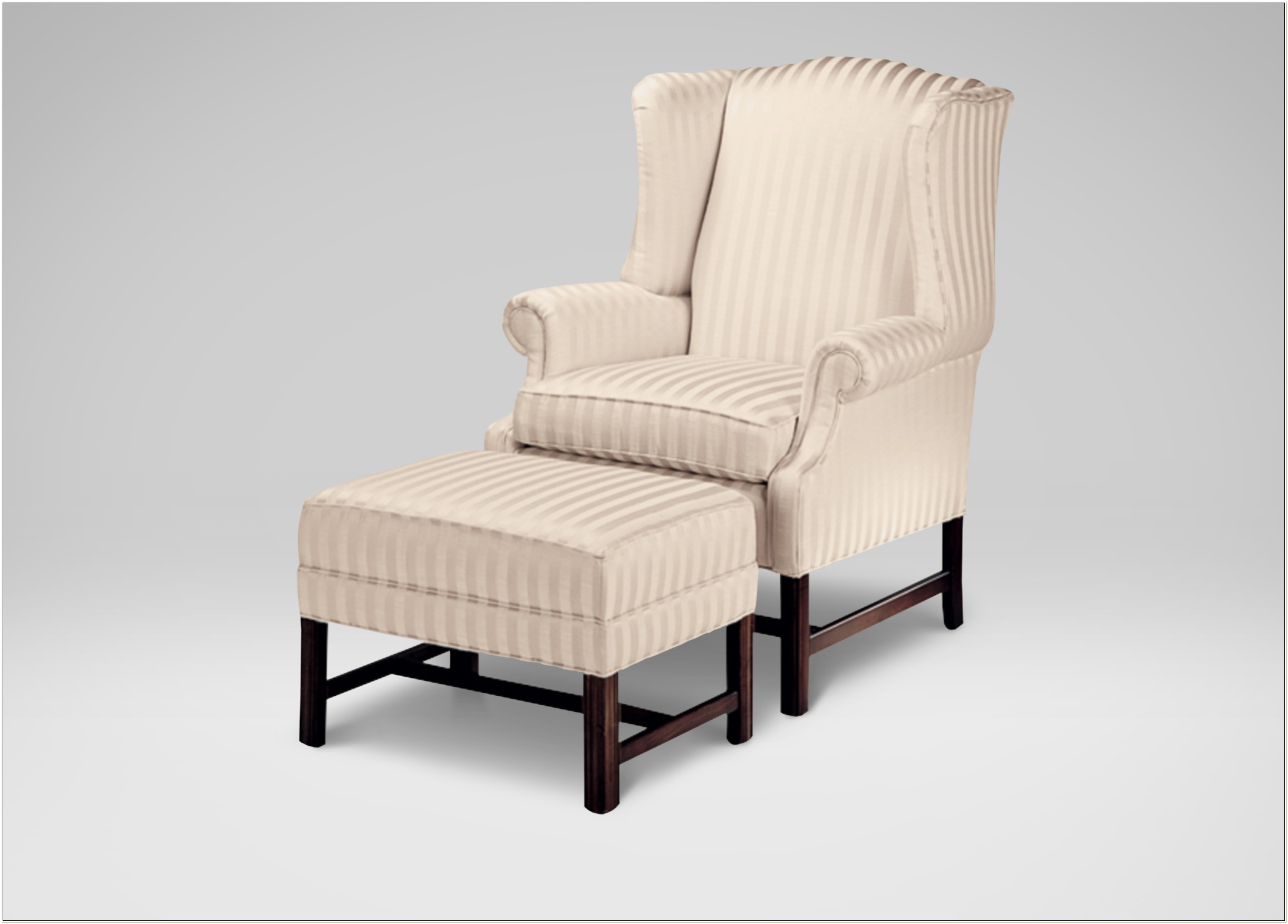 Ethan Allen Chippendale Wingback Chair