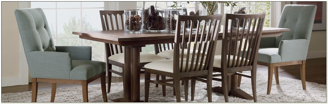 Ethan Allen Upholstered Dining Chairs