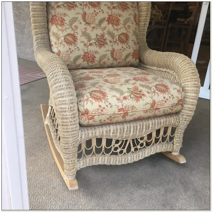 Ethan Allen Wicker Rocking Chair