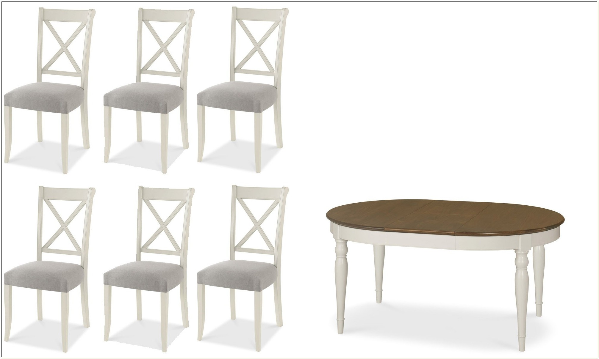 Extendable Oval Kitchen Table And 4 Chairs