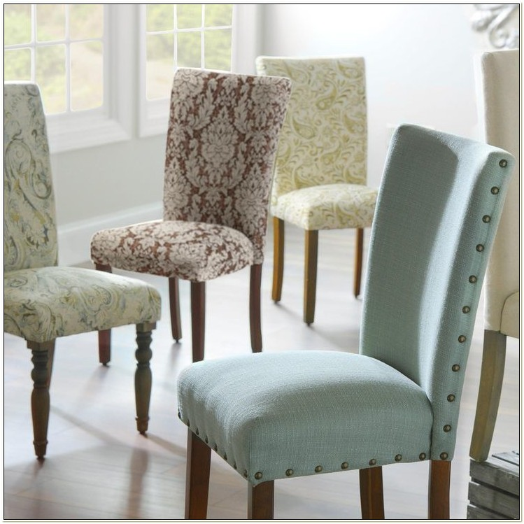 Fabric Parson Chairs Dining Set