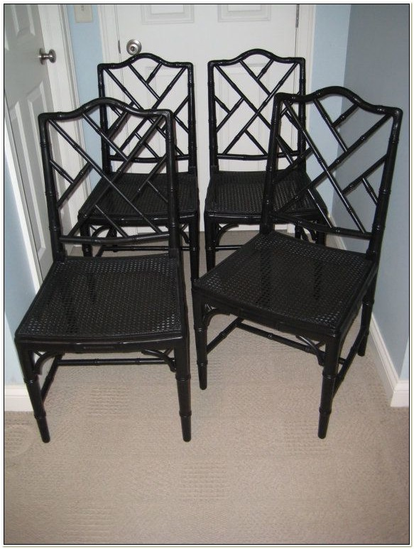 Faux Bamboo Chinese Chippendale Chairs