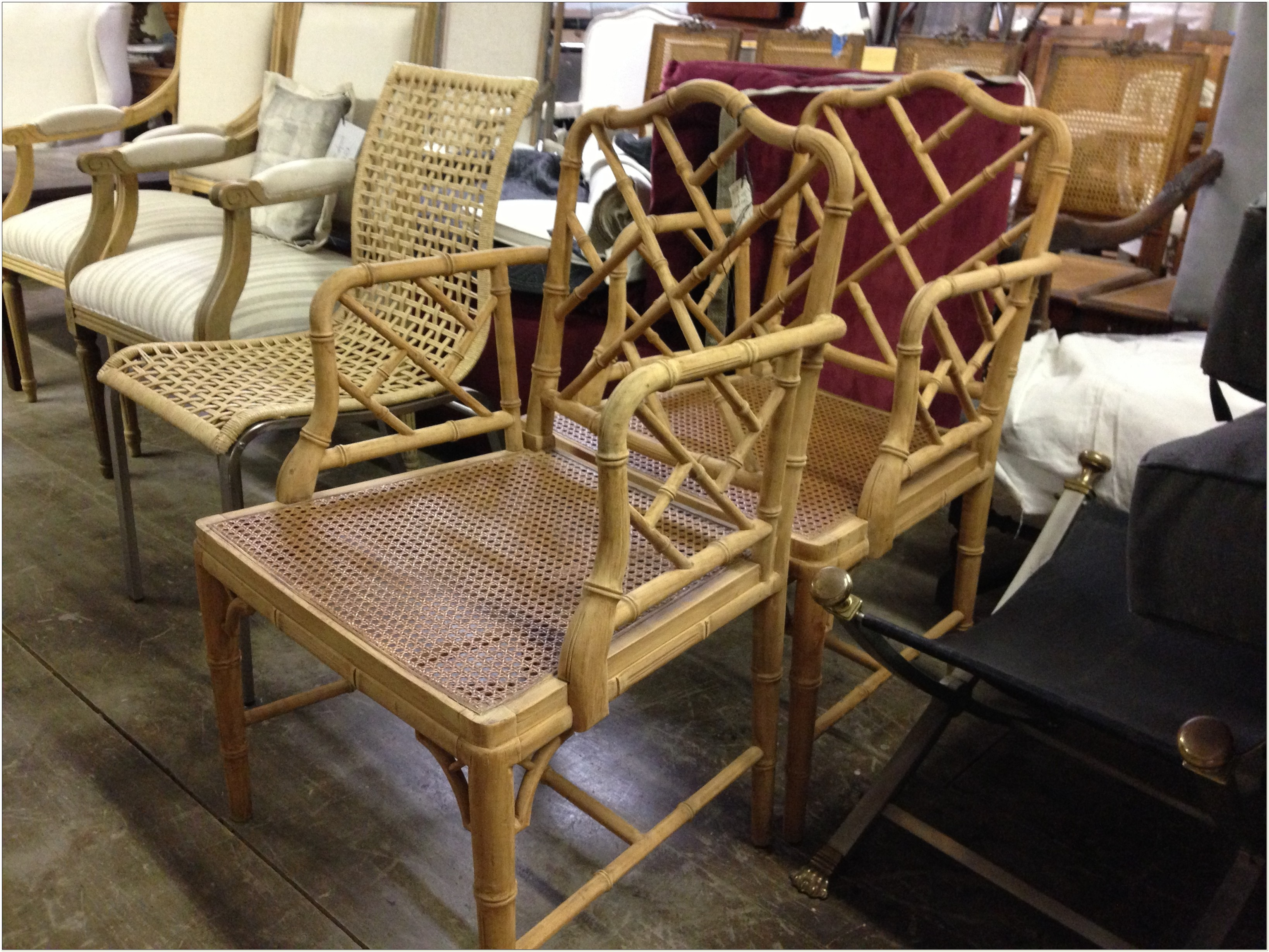 Faux Bamboo Chippendale Chairs Australia