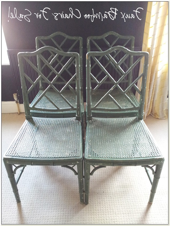 Faux Bamboo Chippendale Dining Chairs