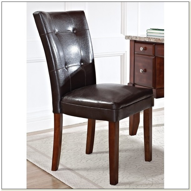 Faux Leather Parsons Chair Free Shipping