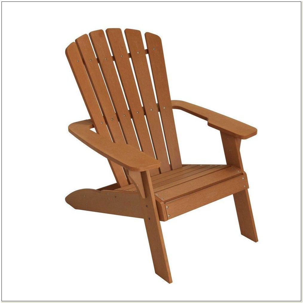 Faux Wood Patio Adirondack Chair