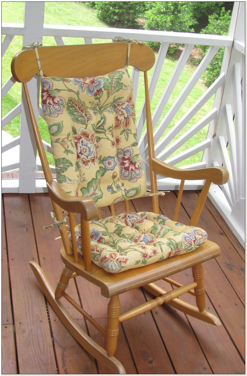 Floral Rocking Chair Cushions