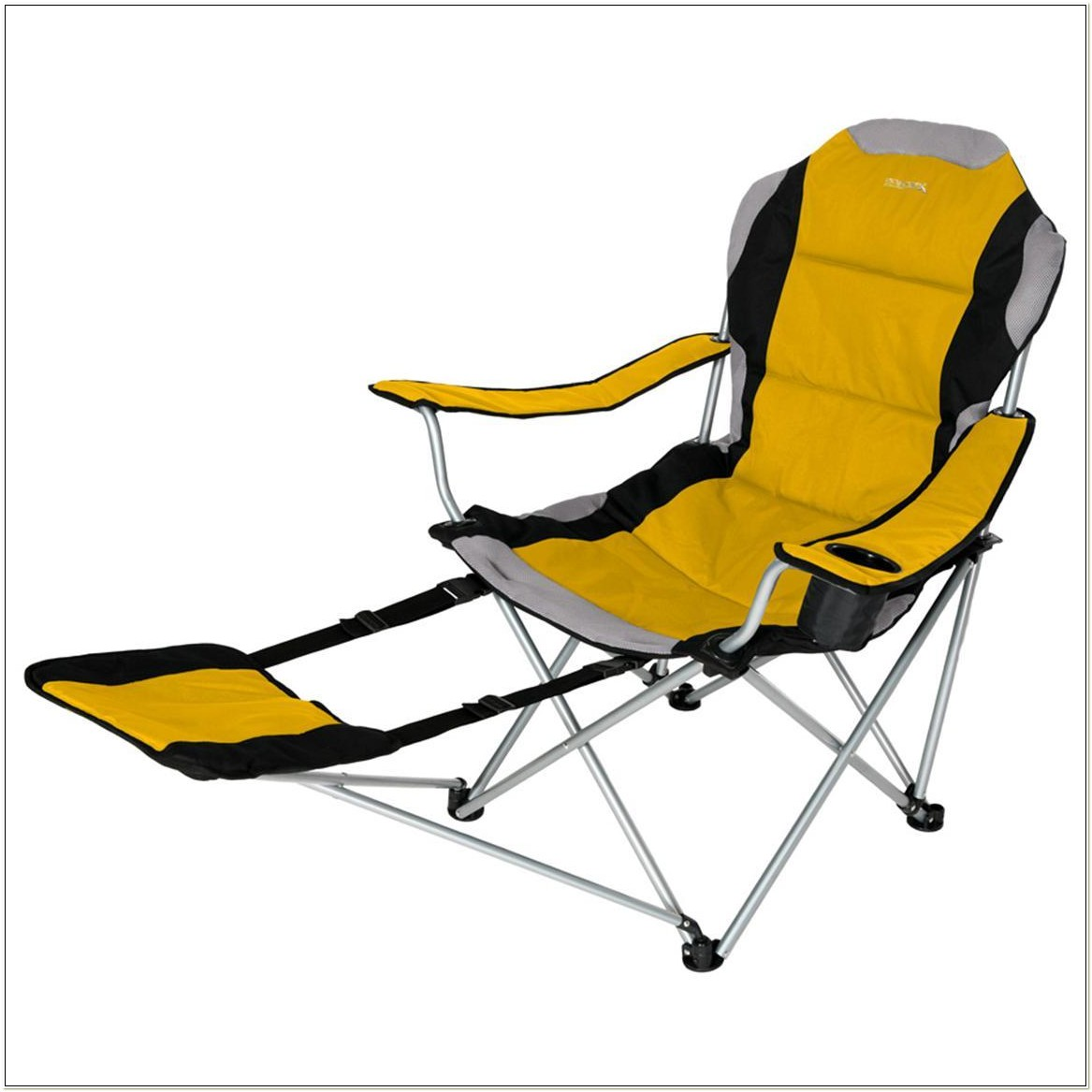 Fold Up Camping Chair With Footrest