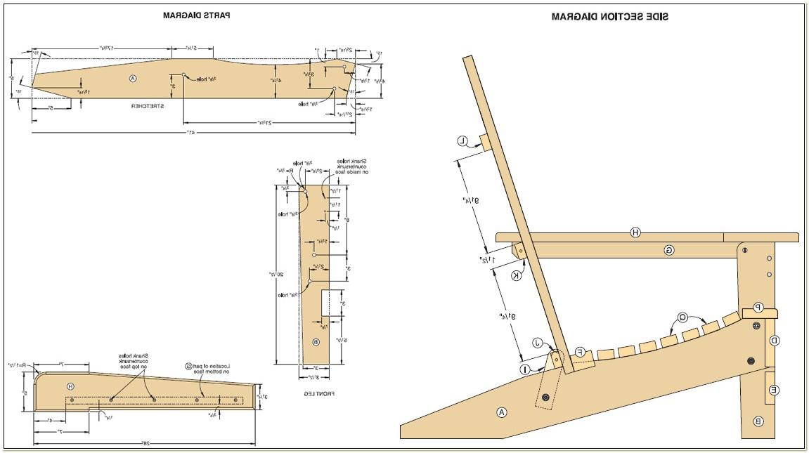 Folding Adirondack Chair Plans Free Pdf