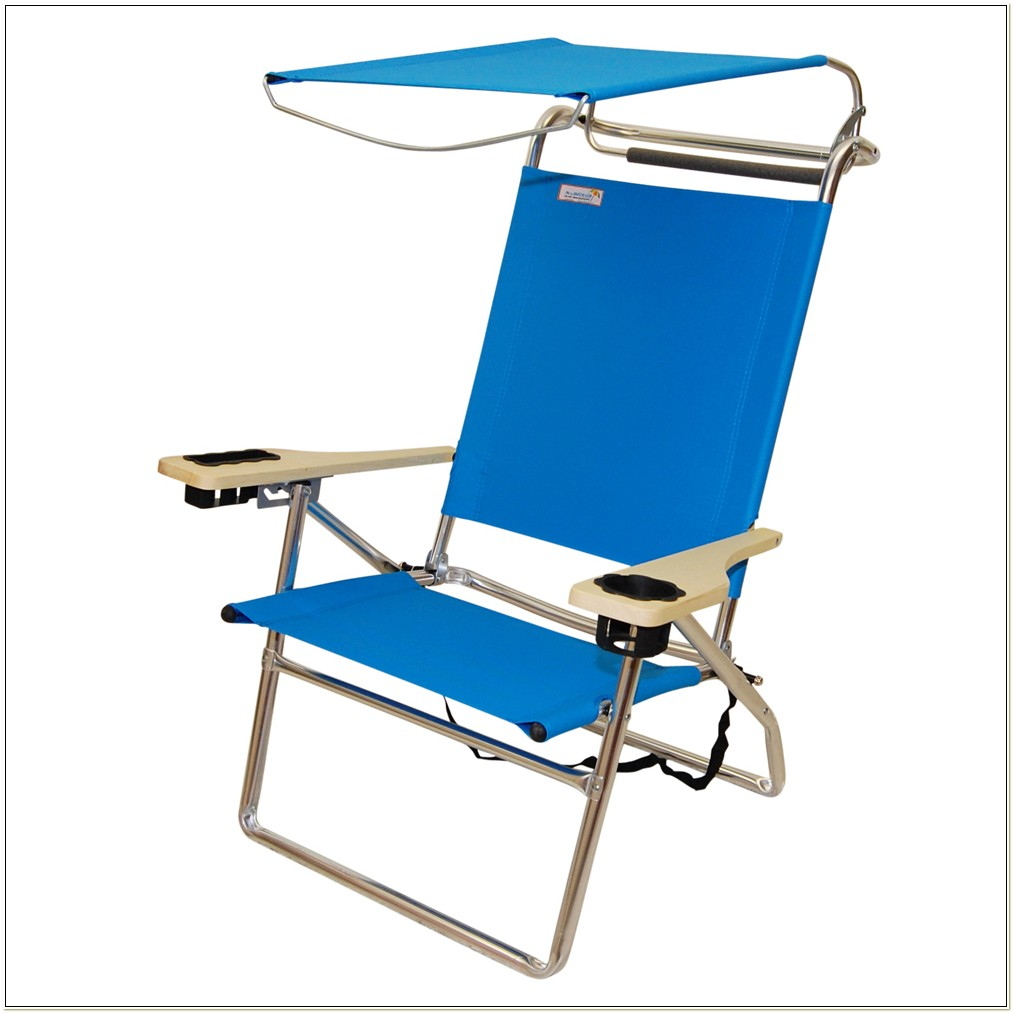 Folding Beach Chair With Sunshade