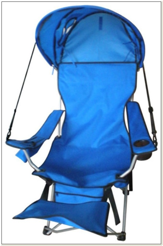 Folding Camp Chair With Footrest And Canopy