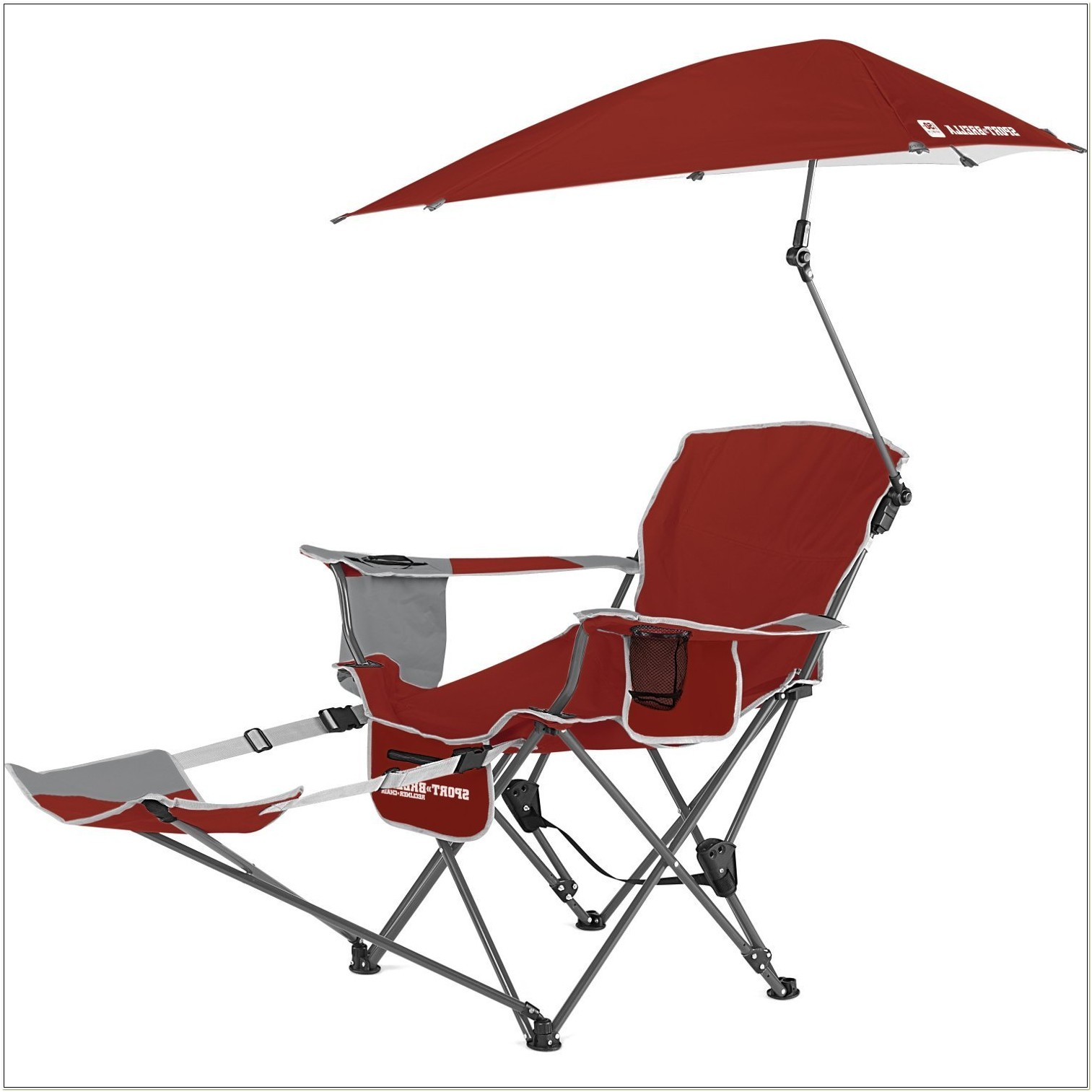 Folding Chair With Footrest And Umbrella