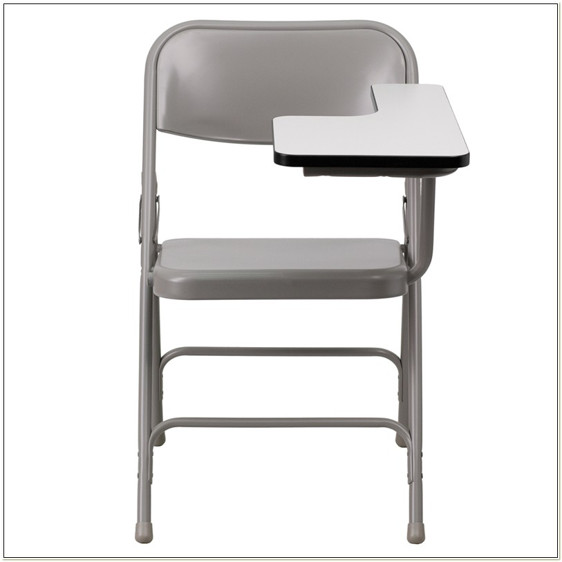 Folding Chair With Right Handed Tablet Arm
