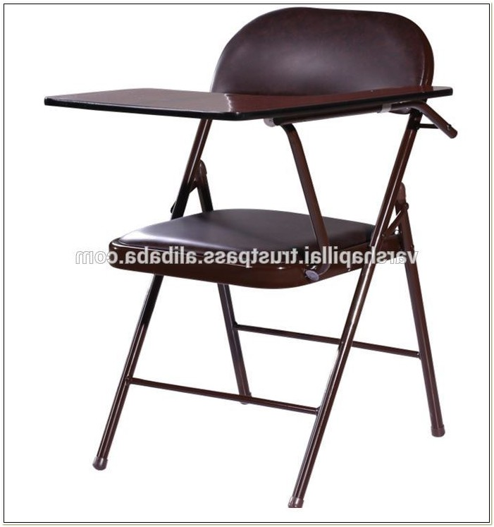 Folding Chair With Writing Tablet