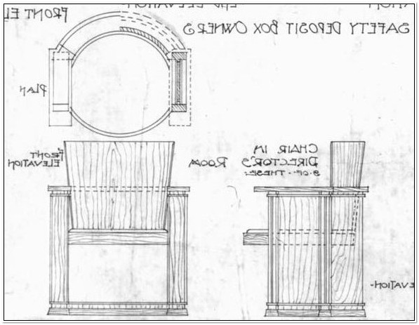 Frank Lloyd Wright Barrel Chair Plans