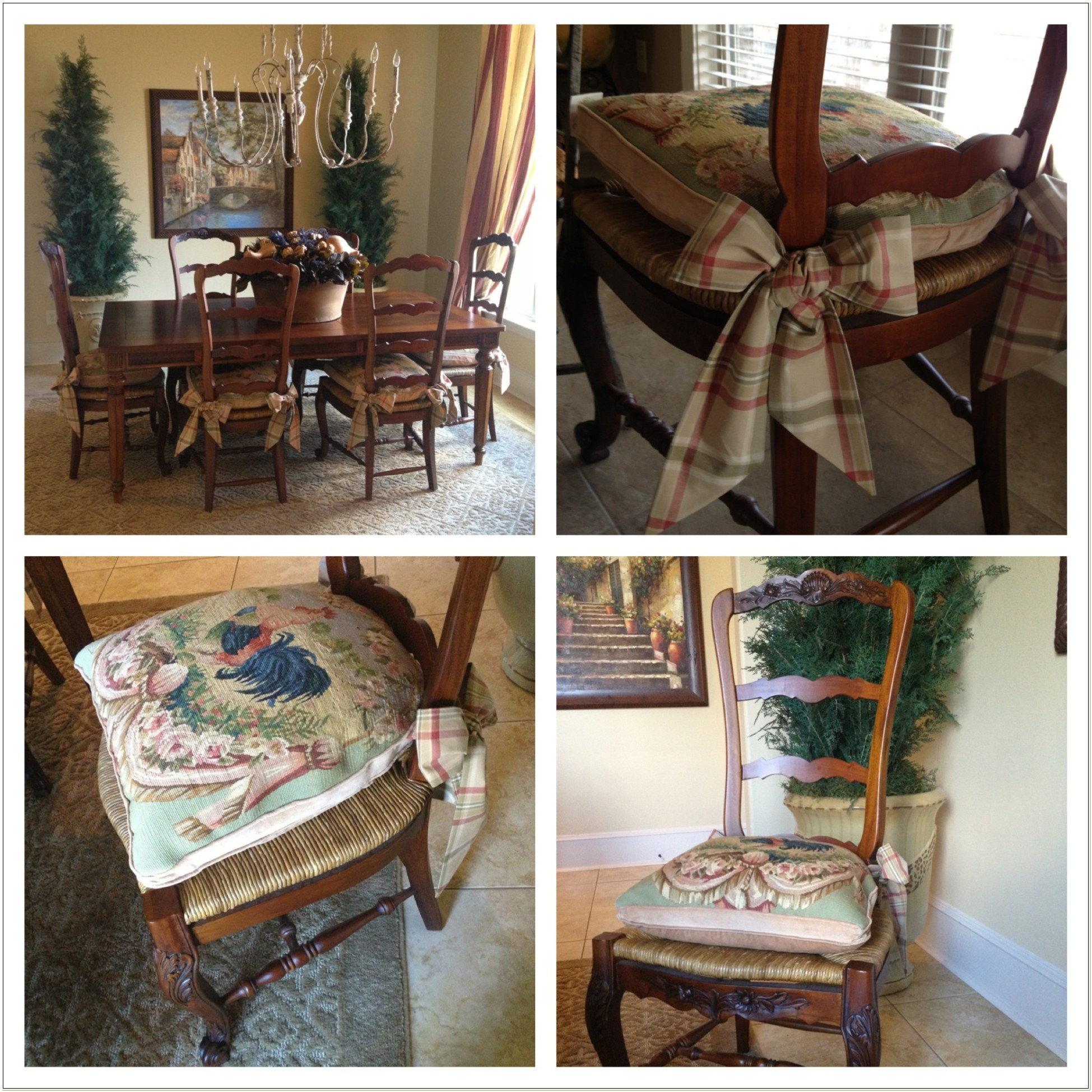 French Country Dining Chair Pads