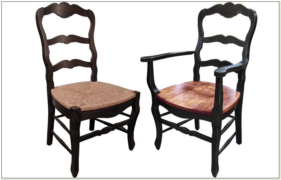French Country Ladderback Arm Chairs