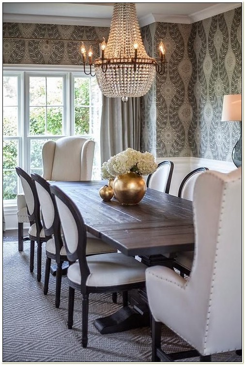 French Round Back Dining Chairs