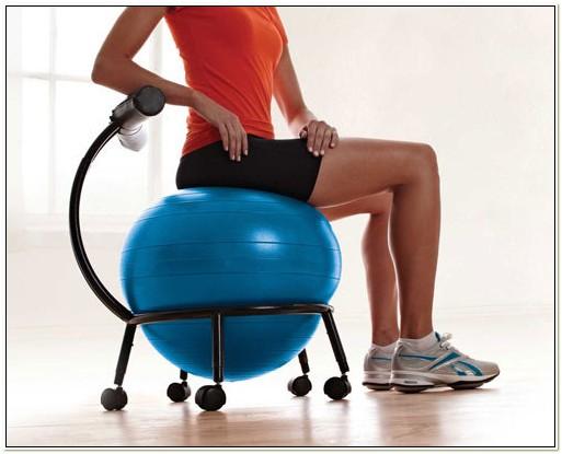 Gaiam Balance Ball Chair Exercises