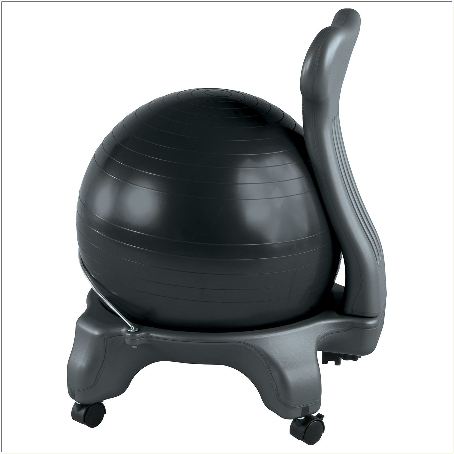 Gaiam Classic Balance Ball Chair Charcoal
